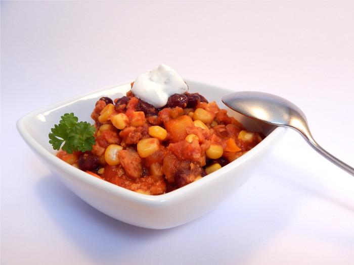 Chili sin Carne mit Sojaschnetzeln