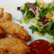 Chicken Nuggets mit Quinoa Panad