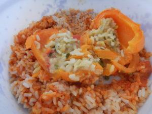 Gefüllte Paprika mit Reis