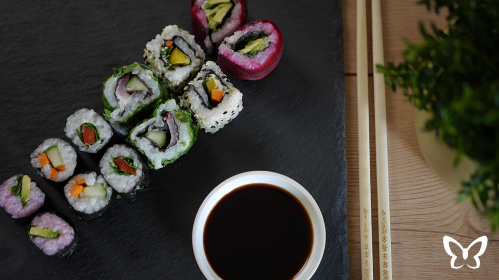 Vegetarische Sushi Platte