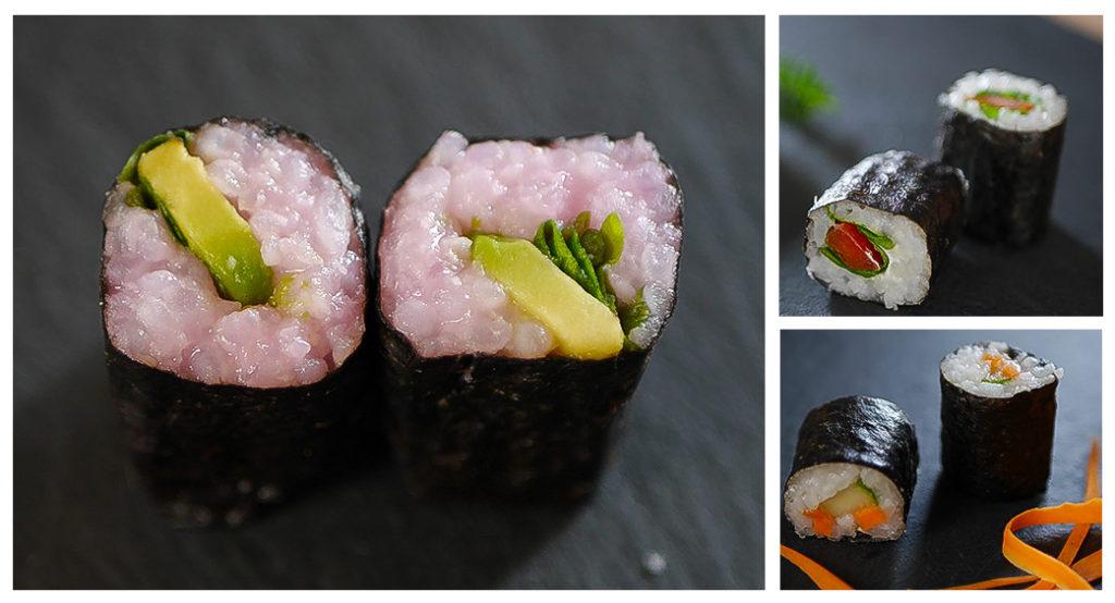 Sushi Maki gerollt