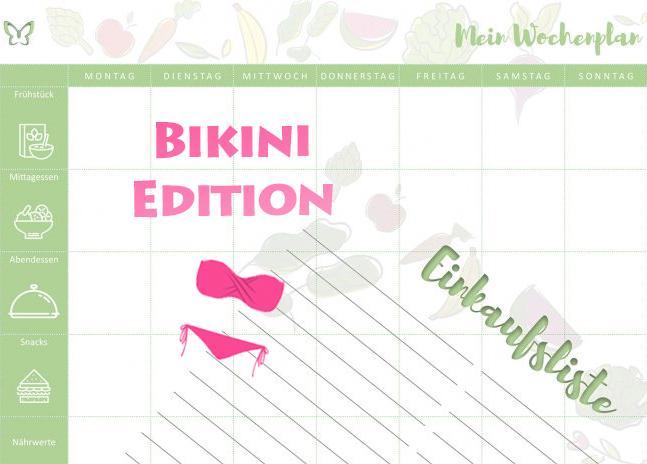 Bikini Wochenplan
