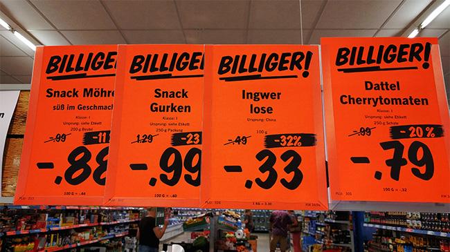 Sparen beim Einkaufen durch Angebote