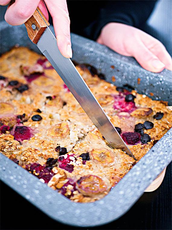 Gesunder Haferflocken-Auflauf   Mealprep fürs Frühstück