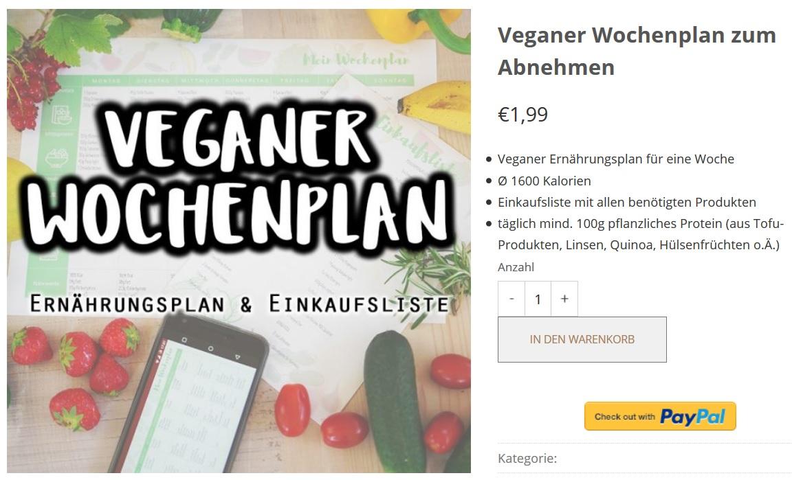 Veganer Ernährungsplan für Sportler