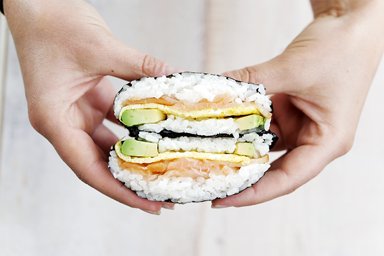 Sushi Burrito with Salmon and Avocado