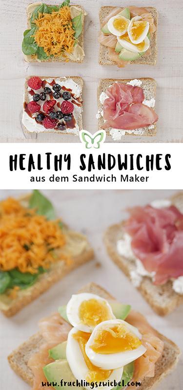 4 einfache und schnelle Rezepte aus dem Sandwich Toaster - Orientalisch, Salmon & Egg, High Protein und Sweet Berry