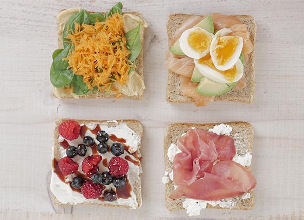 4 einfache und gesunde Sandwiches - mit meinen 4 leckeren Sandwich Ideen hast du in 5 Minuten gesunde Sandwiches