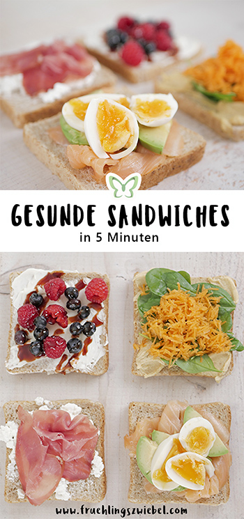 Gesunde Sandwiches in 5 Minuten - 4 schnelle Rezepte aus dem Sandwich Toaster