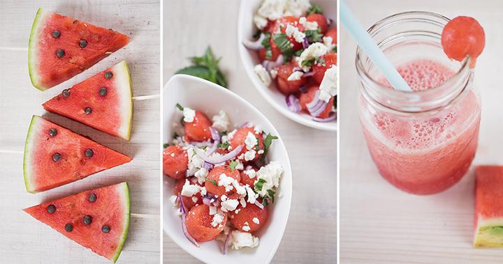 3 einfache und schnelle Wassermelonen Rezepte