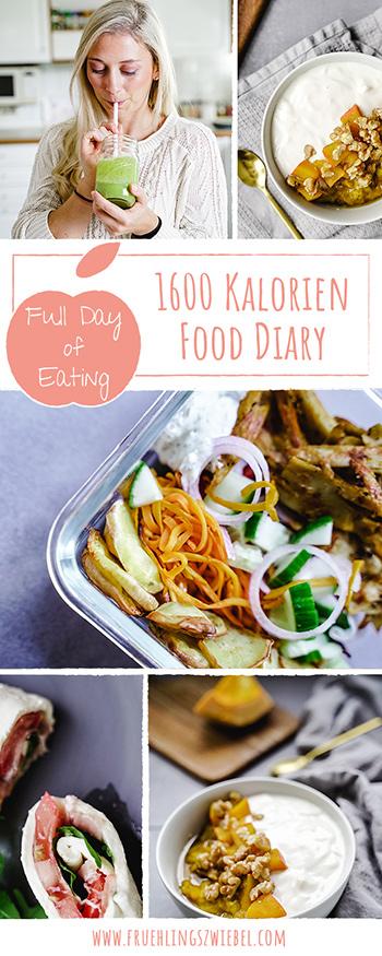 1600 Kalorien Food Diary zum Abnehmen