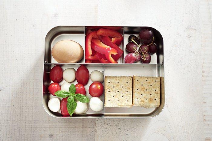 Vegetarische Lunchox für Schule, Uni, Arbeit