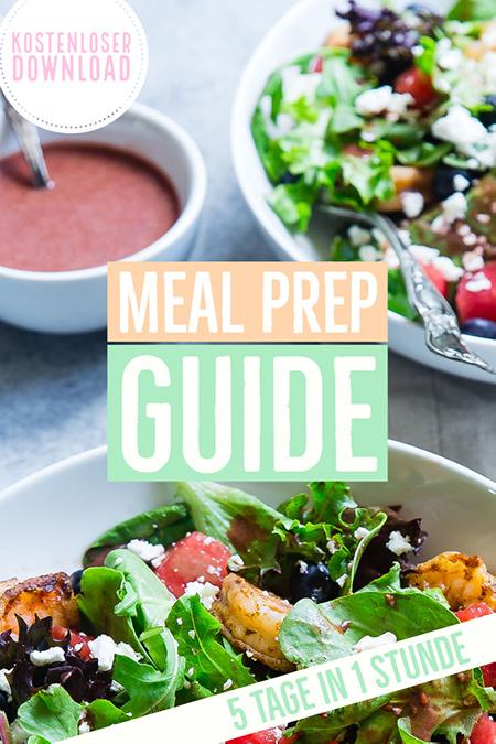 Meal Prep Plan für eine Woche