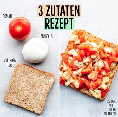 3 Zutaten Bruscetta