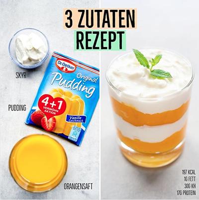 Protein Pudding Rezept