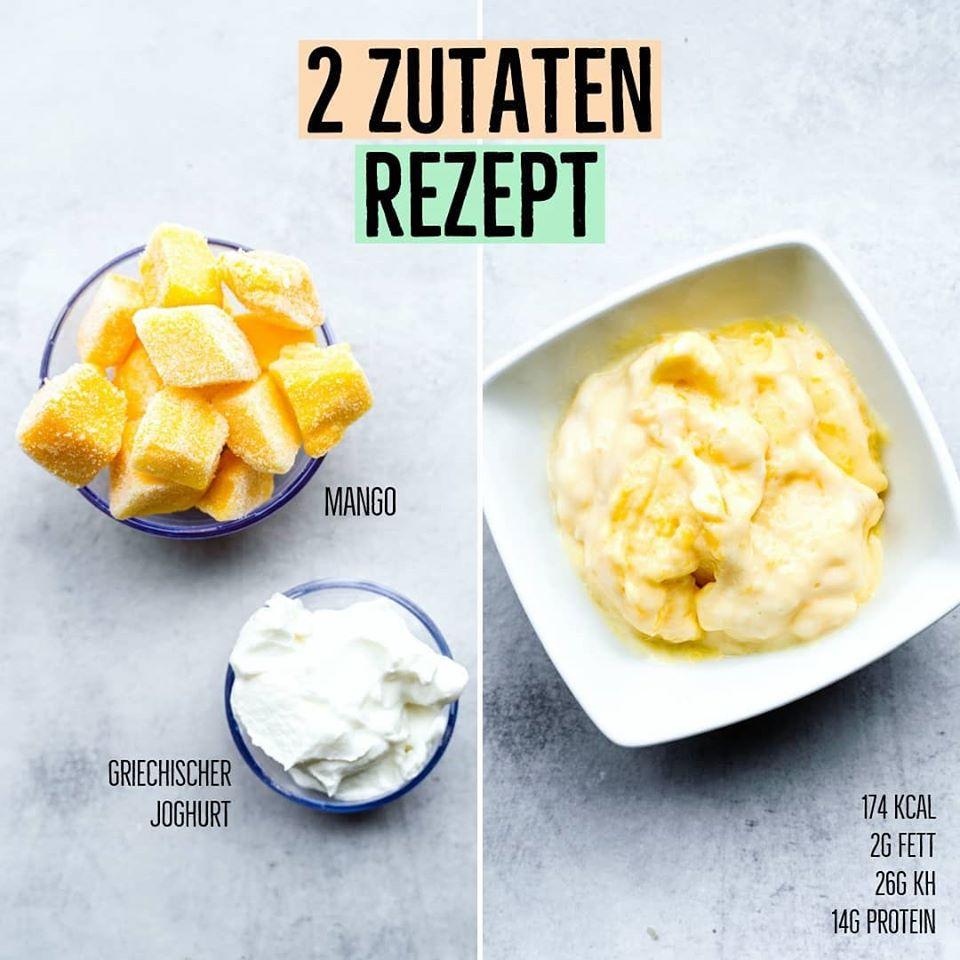 Mango Eis Rezept
