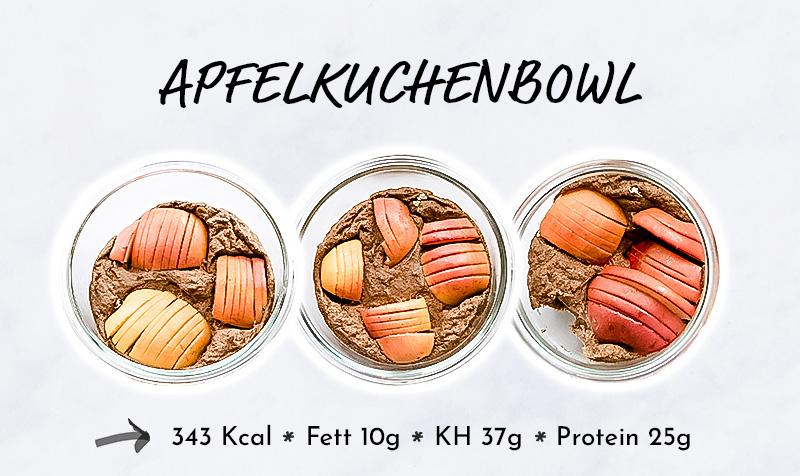 Meal Prep Apfelkuchenbowl