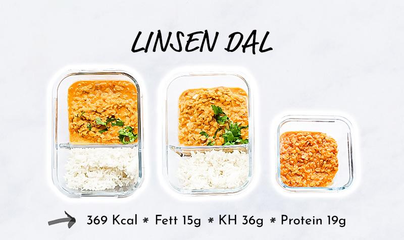 Meal Prep Vegan Linsen Dal