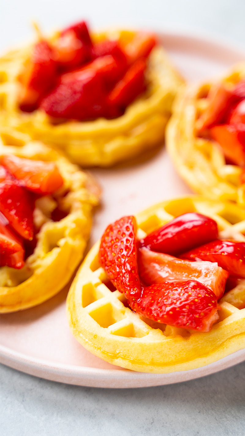 Rezept Erdbeer Protein Waffeln