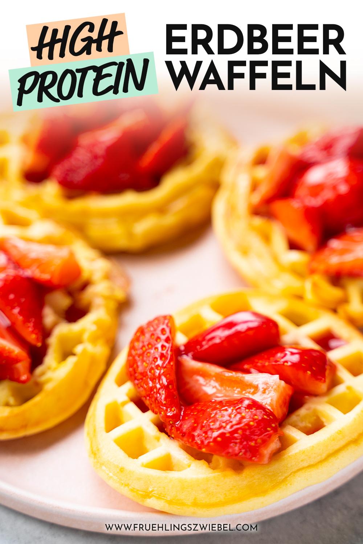 Erdbeerwaffeln high protein